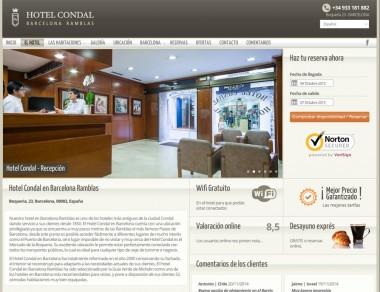 Hotel Condal Página Interna